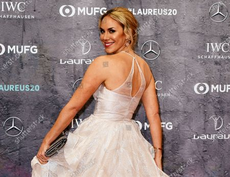 Stock Picture of Austrian Tv journalist Kathi Worndl arrives for the Laureus World Sports Awards ceremony at the Verti Music Hall in Berlin, Germany, 17 February 2020.