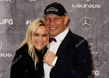 Stock Photo of Former German heavyweight boxer Axel Schulz and wife Patricia Schulz arrive for the Laureus World Sports Awards ceremony at the Verti Music Hall in Berlin, Germany, 17 February 2020.