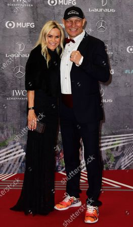 Stock Image of Former German heavyweight boxer Axel Schulz and wife Patricia Schulz arrive for the Laureus World Sports Awards ceremony at the Verti Music Hall in Berlin, Germany, 17 February 2020.