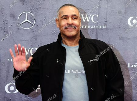 Stock Image of Former British decathlete Daley Thompson arrives for the Laureus World Sports Awards ceremony at the Verti Music Hall in Berlin, Germany, 17 February 2020.