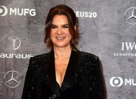 Two-time Figure Skating Olympic gold medalist Katarina Witt of Germany arrives for the Laureus World Sports Awards ceremony at the Verti Music Hall in Berlin, Germany, 17 February 2020.