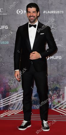 Spanish actor and singer Miguel Angel Munoz arrives for the Laureus World Sports Awards ceremony at the Verti Music Hall in Berlin, Germany, 17 February 2020.