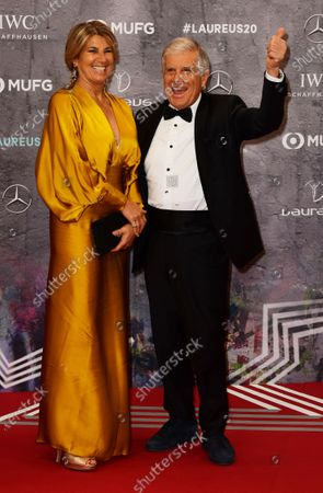 Stock Photo of Laureus Academy Member Giacomo Agostini and wife Maria arrive for the Laureus World Sports Awards ceremony at the Verti Music Hall in Berlin, Germany, 17 February 2020.