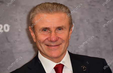 Laureus Academy Member Sergey Bubka arrives for the Laureus World Sports Awards ceremony at the Verti Music Hall in Berlin, Germany, 17 February 2020.