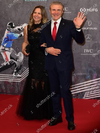Laureus Academy Member Sergey Bubka and his wife Lilya Bubk arrive for the Laureus World Sports Awards ceremony at the Verti Music Hall in Berlin, Germany, 17 February 2020.