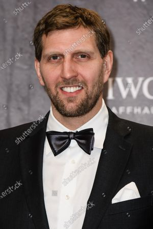 Former NBA player Dirk Nowitzki of Germany arrives for the Laureus World Sports Awards ceremony at the Verti Music Hall in Berlin, Germany, 17 February 2020.