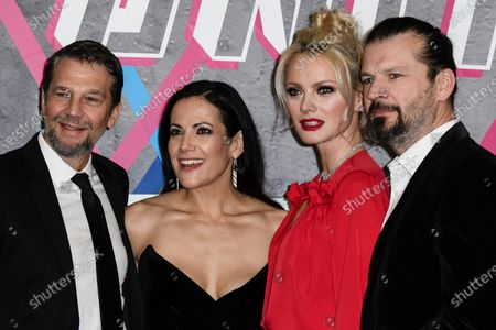 (L-R) German actor Kai Wiesinger, German actress Bettina Zimmermann, German model Franziska Knuppe and her husband Christian Moestl arrive for the Laureus World Sports Awards ceremony at the Verti Music Hall in Berlin, Germany, 17 February 2020.