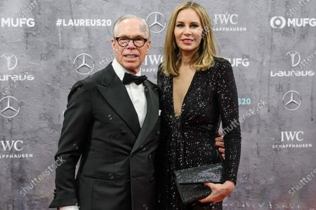 US designer Tommy Hilfiger (L) and wife Dee Ocleppo arrive for the Laureus World Sports Awards ceremony at the Verti Music Hall in Berlin, Germany, 17 February 2020.