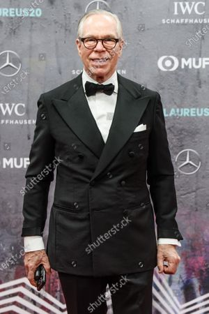 US designer Tommy Hilfiger arrives for the Laureus World Sports Awards ceremony at the Verti Music Hall in Berlin, Germany, 17 February 2020.
