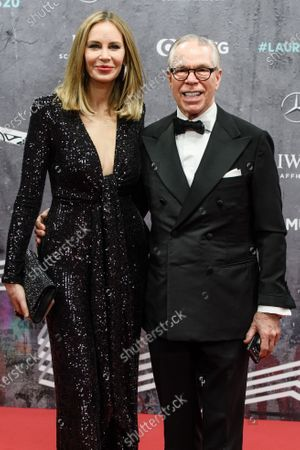 US designer Tommy Hilfiger (R) and wife Dee Ocleppo arrive for the Laureus World Sports Awards ceremony at the Verti Music Hall in Berlin, Germany, 17 February 2020.