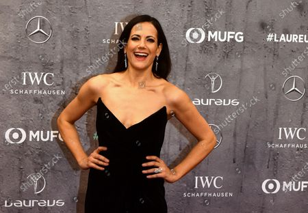 German actress Bettina Zimmermann arrives for the Laureus World Sports Awards ceremony at the Verti Music Hall in Berlin, Germany, 17 February 2020.