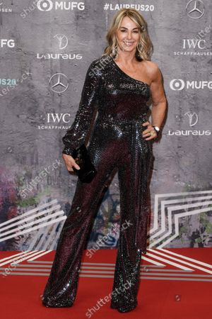 Laureus Academy member Nadia Comaneci arrives for the Laureus World Sports Awards ceremony at the Verti Music Hall in Berlin, Germany, 17 February 2020.