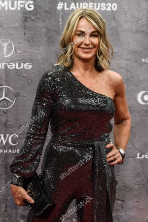 Stock Image of Laureus Academy member Nadia Comaneci arrives for the Laureus World Sports Awards ceremony at the Verti Music Hall in Berlin, Germany, 17 February 2020.