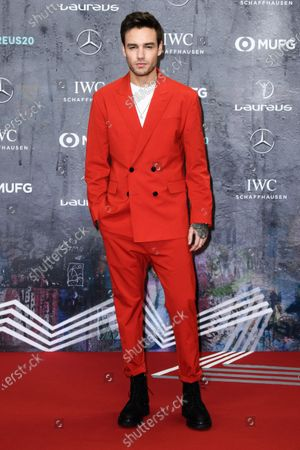 British recording artist Liam Payne arrives for the Laureus World Sports Awards ceremony at the Verti Music Hall in Berlin, Germany, 17 February 2020.