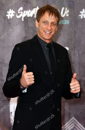 US skateboard legend Tony Hawk arrives for the Laureus World Sports Awards ceremony at the Verti Music Hall in Berlin, Germany, 17 February 2020.