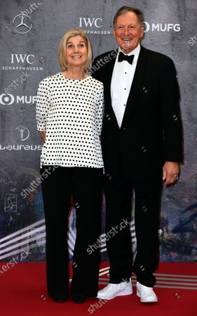 Austrian alpine skiing legend Franz Klammer and his wife Eva Klammer arrive for the Laureus World Sports Awards ceremony at the Verti Music Hall in Berlin, Germany, 17 February 2020.