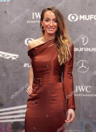Swedish soccer player Kosovare Asllani arrives for the 2020 Laureus World Sports Awards in Berlin, Germany