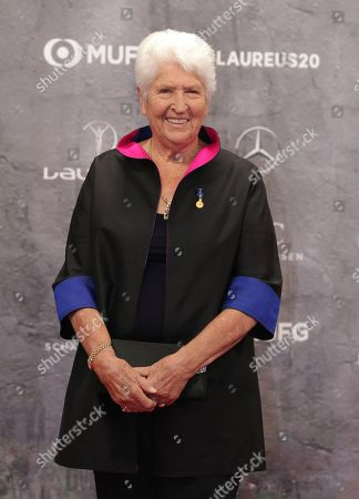 Stock Photo of Former swimming champion Dawn Fraser arrives for the 2020 Laureus World Sports Awards in Berlin, Germany