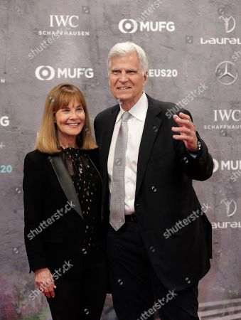 Former swimmer Mark Spitz and his wife Suzy arrive for the 2020 Laureus World Sports Awards in Berlin, Germany