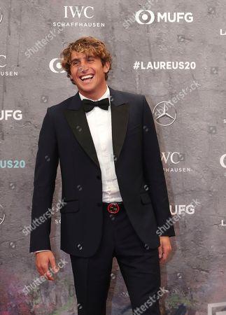Stock Image of Italian surfer Leonardo Fioravanti arrives for the 2020 Laureus World Sports Awards in Berlin, Germany