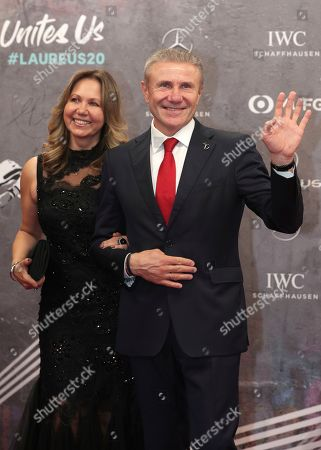 Stock Picture of Pole Vault legend Sergey Bubka and his wife Lilia arrive for the 2020 Laureus World Sports Awards in Berlin, Germany