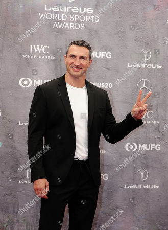 Former World Heavyweight boxing champion Wladimir Klitschko features as he arrives for the 2020 Laureus World Sports Awards in Berlin, Germany