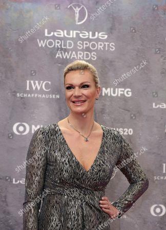 Former alpine skier Maria Hoefl-Riesch of Germany arrives for the 2020 Laureus World Sports Awards in Berlin, Germany
