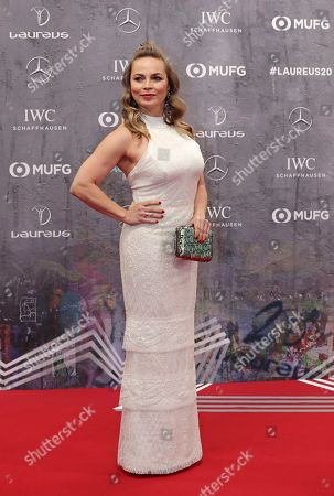 Former boxer Regina Halmich arrives for the 2020 Laureus World Sports Awards in Berlin, Germany