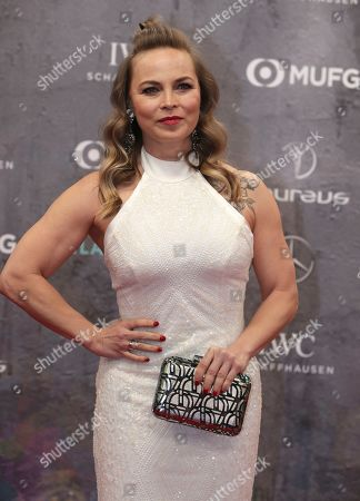 Stock Picture of Former boxer Regina Halmich arrives for the 2020 Laureus World Sports Awards in Berlin, Germany