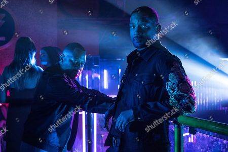 Stock Photo of Martin Lawrence as Marcus Burnett and Will Smith as Mike Lowery