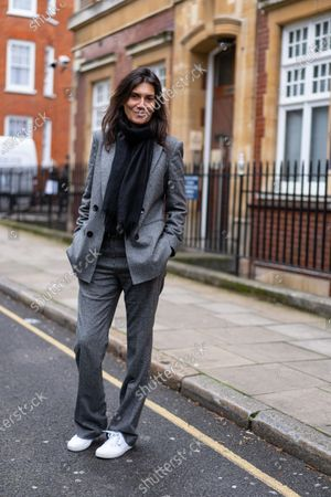 Editorial picture of Street Style, Fall Winter 2020, London Fashion Week, UK - 17 Feb 2020