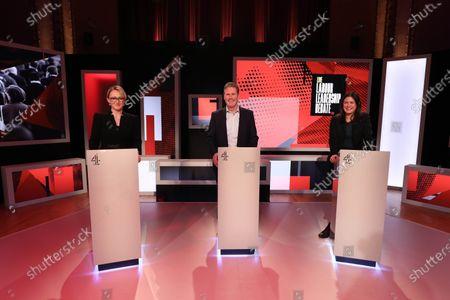 Candidates Rebecca Long-Bailey, Keir Starmer and Lisa Nandy.