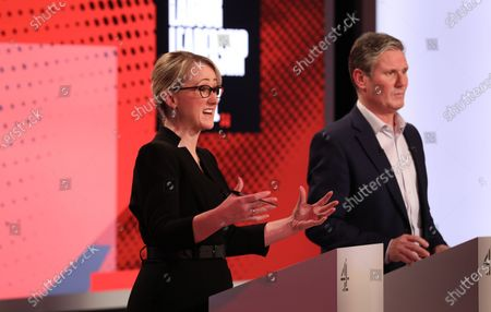 Candidates Rebecca Long-Bailey and Keir Starmer.
