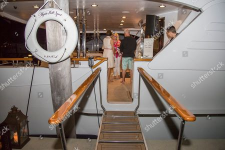 Stock Picture of Flexjet, one of the largest fractional private jet providers, hosted its private jet Owners, on a private MegaYacht ? renamed for the evening 'Thyme Well Spent.' The event at the exclusive Ocean Reef Club in Key Largo, Fla included an evening of live music, cuisine prepared by Celebrity Chef Emeril Lagasse and hosted by Flexjet CEO Michael Silvestro