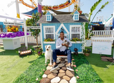 Editorial photo of Hallmark Channel's 'Adoption Ever After' experiential pop-up, Santa Monica Beach, Los Angeles,  USA - 17 Feb 2020