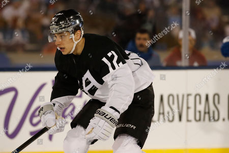 R m. Los Angeles Kings center Trevor Moore (12) in the first period of an NHL hockey game, at Air Force Academy, Colo