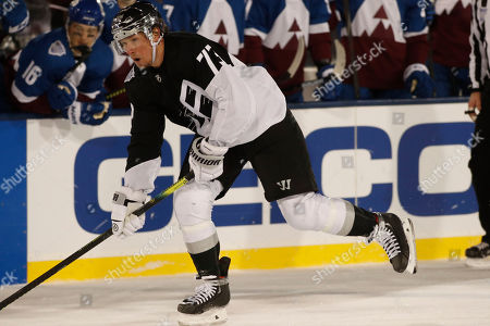 R m. Los Angeles Kings right wing Tyler Toffoli (73) in the third period of an NHL hockey game, at Air Force Academy, Colo. The Kings won 3-1