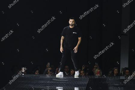 Riccardo Tisci on the catwalk