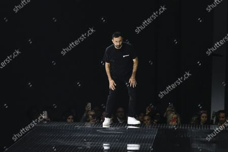 Stock Photo of Riccardo Tisci on the catwalk