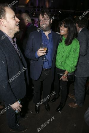 Stock Image of Robert Webb, David Mitchell (Shakespeare) and Claudia Winkleman