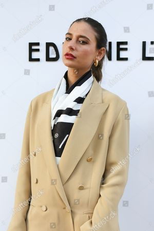 Editorial image of Edeline Lee show, Arrivals, Fall Winter 2020, London Fashion Week, UK - 17 Feb 2020