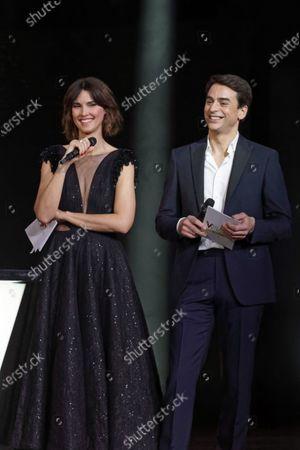 Stock Image of Eglantine Emeye et Julien Bugier