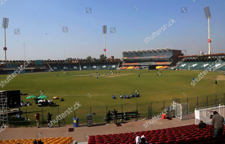 Players of Multan Sultan cricket team attend a practice session at Gaddafi stadium in preparation for upcoming Pakistan Super League, in Lahore, Pakistan. Security concerns stopped foreign cricketers from touring Pakistan four years ago when the country's premier domestic Twenty20 tournament was launched, forcing organizers to stage the event on neutral turf in the United Arab Emirates. When the 2020 edition of the PSL starts in Karachi on Thursday, Darren Sammy of the West Indies and Shane Watson of Australia will be among 36 foreign cricketers involved in the six franchises