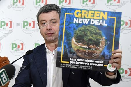 Andrea Orlando during the presentation of the Democratic Party's 'Plan for Italy'