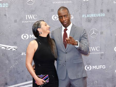 Michael Johnson and wife