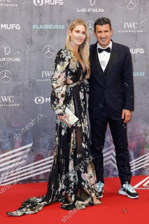 Stock Picture of Helen Svedin and Luis Figo