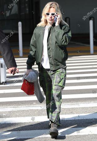 Editorial image of Georgia May Jagger at Los Angeles International Airport, USA - 17 Feb 2020