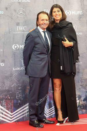 Emerson Fittipaldi and Rossana Fanucchi