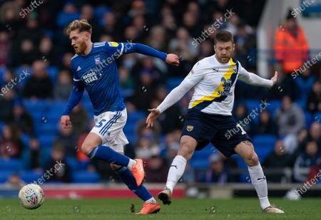 Stock Picture of Teddy Bishop of Ipswich Town and Jamie Mackie of Oxford United