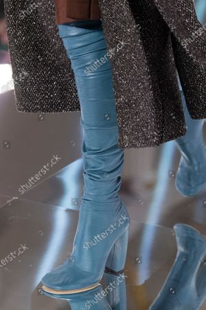Stock Picture of Model on the catwalk - shoe detail